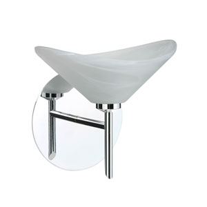 Hoppi Chrome One-Light LED Bath Sconce with Marble Glass