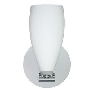 Karli Polished Nickel One-Light LED Bath Sconce with Opal Matte Glass