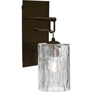 Cruise Bronze One-Light Wall Sconce with Clear Shade