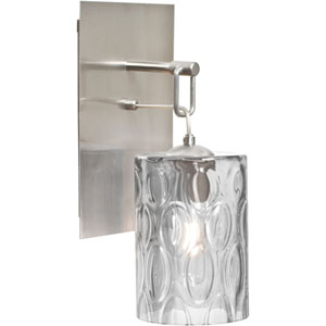 Cruise Satin Nickel One-Light Wall Sconce with Clear Shade