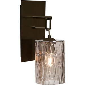 Cruise Bronze One-Light Wall Sconce with Smoke Shade