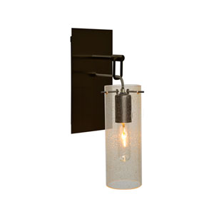 Juni Bronze One-Light Wall Sconce with Gold Bubble Shade