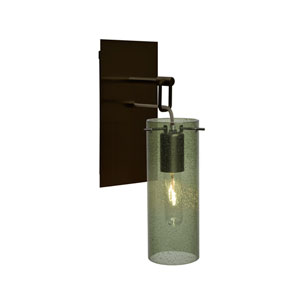 Juni Bronze One-Light Wall Sconce with Moss Bubble Shade