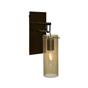 Juni Bronze One-Light Wall Sconce with Latte Bubble Shade