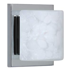 WS Carrera Chrome One-Light Bath Fixture