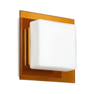 Alex Chrome One-Light LED Bath Sconce with Opal and Armagnac Glass