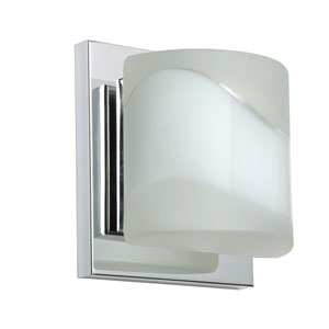 Paolo Chrome One-Light LED Bath Sconce with Opal- Frost Glass