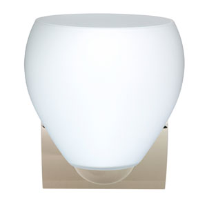 Bolla Chrome One-Light Incandescent Wall Sconce with Opal Matte Glass