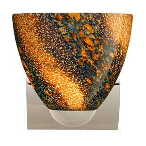 Sasha Chrome One-Light Incandescent Wall Sconce with Ceylon Glass