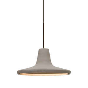 Modus Bronze One-Light Halogen Mini Pendant with Tan Shade
