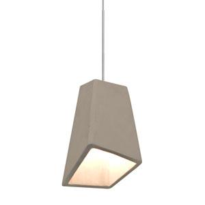 Skip Satin Nickel One-Light LED Mini Pendant with Tan Shade