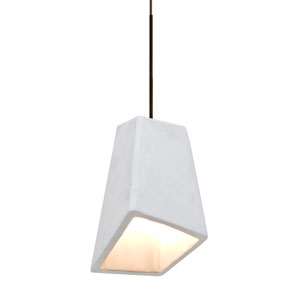 Skip Bronze One-Light LED Mini Pendant with White Shade