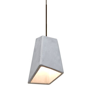 Skip Bronze One-Light LED Mini Pendant with Natural Shade
