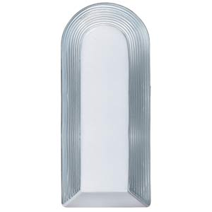 Series 2433 White/Clear Flush Sconce