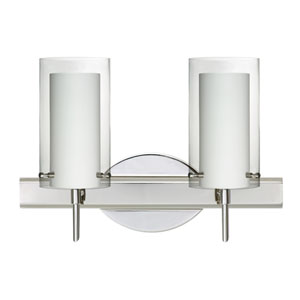 Pahu 4 Chrome Two-Light LED Bath Vanity with Clear Glass