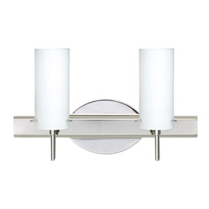 Copa 3 Chrome Two-Light LED Bath Vanity with Opal Matte Glass