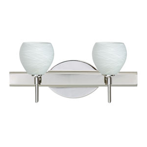 Tay Tay Chrome Two-Light LED Bath Vanity with Cocoon Glass