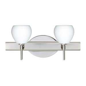 Tay Tay Chrome Two-Light LED Bath Vanity with Opal Matte Glass