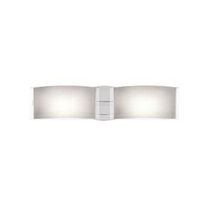 Jodi Chrome Two-Light Bath Fixture with Opal Glossy Glass