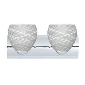 Bolla Chrome Two-Light LED Bath Vanity with Cocoon Glass
