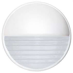 Costaluz 3019 Series Aluminum One-Light Incandescent Wall Sconce with White Glass