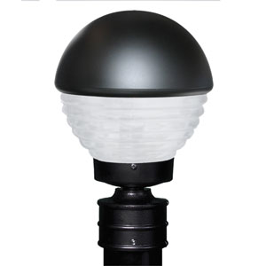 Costaluz 3061 Series Aluminum Incandescent Outdoor Post Light with Black Glass