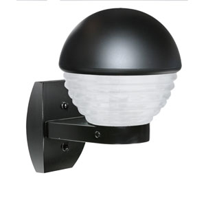 Costaluz 3061 Series Aluminum One-Light Incandescent Wall Sconce with Black Glass