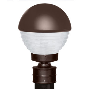 Costaluz 3061 Series Aluminum Incandescent Outdoor Post Light with Bronze Glass