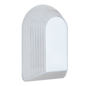 Costaluz 3062 Series Aluminum One-Light Incandescent Wall Sconce with White Glass