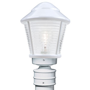 Costaluz 3100 Series Aluminum Incandescent Outdoor Post Light with White Glass