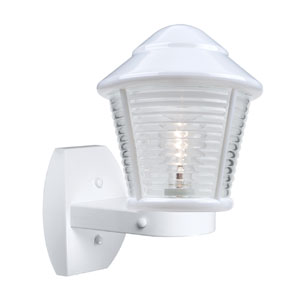 Costaluz 3100 Series Aluminum One-Light Incandescent Wall Sconce with White Glass