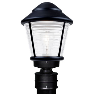 Costaluz 3100 Series Aluminum Incandescent Outdoor Post Light with Black Glass