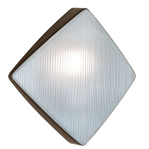 Costaluz 3110 Series Aluminum One-Light Incandescent Wall Sconce with Bronze Glass