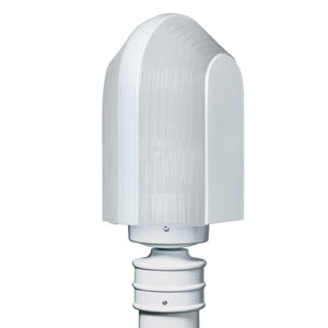 Costaluz 3139 Series Aluminum Incandescent Outdoor Post Light with White Glass