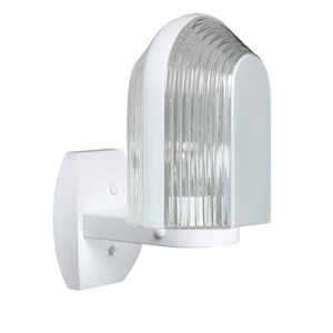 Costaluz 3139 Series Aluminum One-Light Incandescent Wall Sconce with White Glass