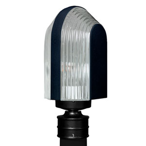Costaluz 3139 Series Aluminum Incandescent Outdoor Post Light with Black Glass