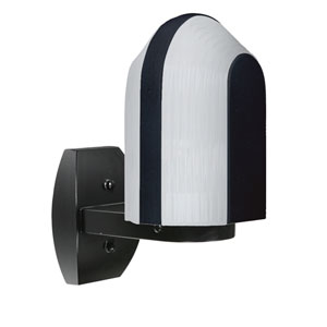 Costaluz 3139 Series Aluminum One-Light Incandescent Wall Sconce with Black Glass