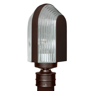 Costaluz 3139 Series Aluminum Incandescent Outdoor Post Light with Bronze Glass