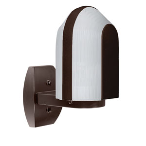 Costaluz 3139 Series Aluminum One-Light Incandescent Wall Sconce with Bronze Glass