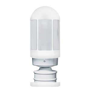 Costaluz 3151 Series Aluminum Incandescent Outdoor Post Light with White Glass