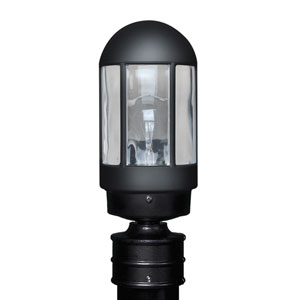 Costaluz 3151 Series Aluminum Incandescent Outdoor Post Light with Black Glass