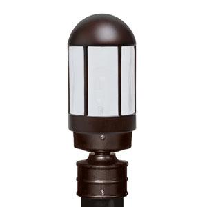 Costaluz 3151 Series Aluminum Incandescent Outdoor Post Light with Bronze Glass