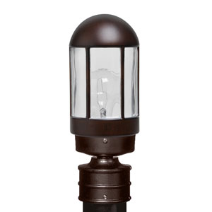 Costaluz 3151 Series Aluminum Incandescent Outdoor Post Light with Bronze Glass