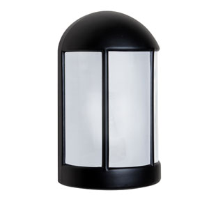 Costaluz 3152 Series Aluminum One-Light Incandescent Wall Sconce with Black Glass