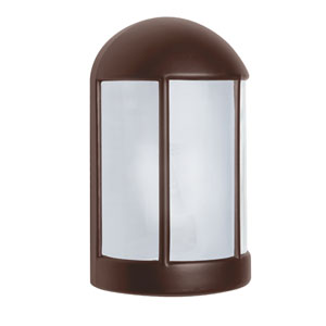 Costaluz 3152 Series Aluminum One-Light Incandescent Wall Sconce with Bronze Glass