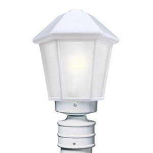 Costaluz 3272 Series Aluminum Incandescent Outdoor Post Light with White Glass