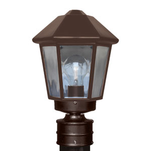 Costaluz 3272 Series Aluminum Incandescent Outdoor Post Light with Bronze Glass