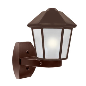 Costaluz 3272 Series Aluminum One-Light Incandescent Wall Sconce with Bronze Glass