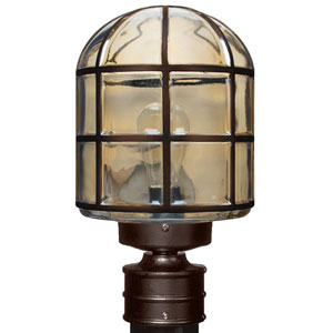 Costaluz 3417 Series Aluminum Incandescent Outdoor Post Light with Bronze Glass