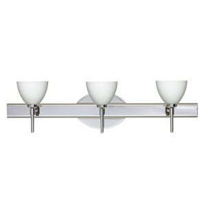 Divi Chrome Three-Light Bath Fixture with Opal Matte Glass